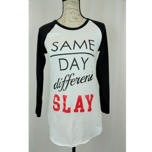 Same Day Different Slay Graphic T-shirt Size M